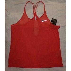Nike Red Sheer Dri Fit Top M - NWT